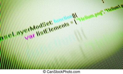 """Coding Information on a Multicolored PC Screen"""