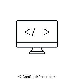 Coding outline icon