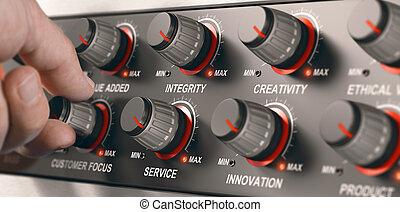 codre, business, service, élevé, qualité, valeurs