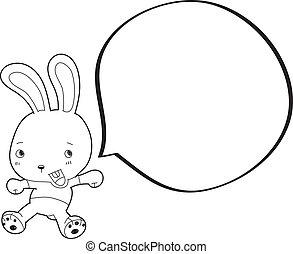 coelho, com, fala, bub