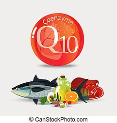 Coenzyme q10. Healthy eating. - Coenzyme q10. Healthy food....