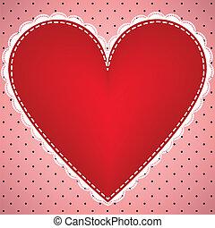 coeur, à, dentelle