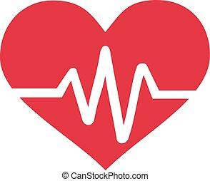 coeur, à, fréquence