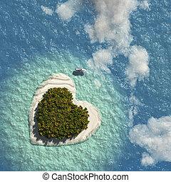 coeur, île