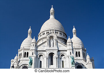 coeur, -, パリ, フランス, 有名, 大聖堂, sacre
