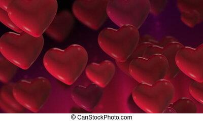 coeur, 2, boucle, valentines