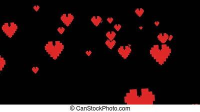 coeur, 4k, icônes
