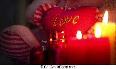 coeur, amour, bougies