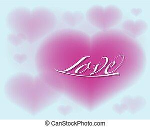 coeur, amour, illustration, vecteur, ton, design.
