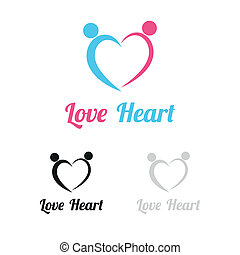 coeur, amour, logo