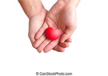 coeur, amour, main