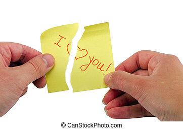 coeur, amour, papier, éclater, crosse, locution, main, vous