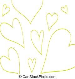 coeur, amour, romantique, annonce, isolated., modèle,...