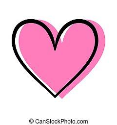 coeur, amour, vecteur