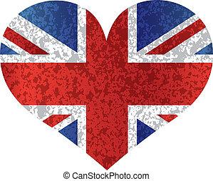 Union Coeur Drapeau Angleterre Cric Coeur Angleterre