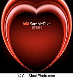 coeur, arrière-plan rouge