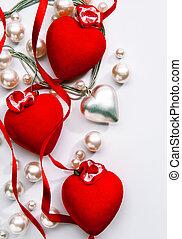 coeur, art, salutation, valentin, conception, amour, jour, carte, heureux