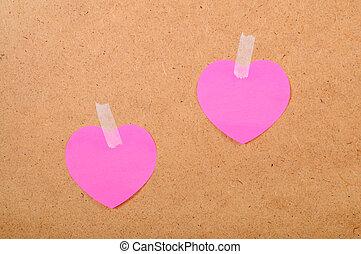 coeur, autocollants, formulaire