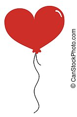 coeur, balloon, rouges