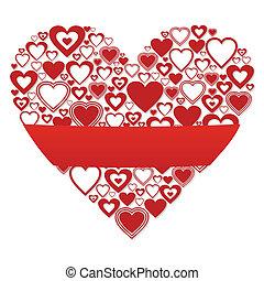 coeur, bannière