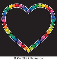 coeur, bijou, carte