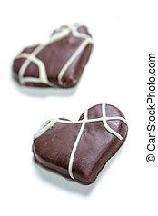 coeur, biscuits, deux