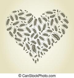 coeur, blé