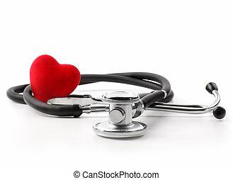 coeur, blanc, stéthoscope