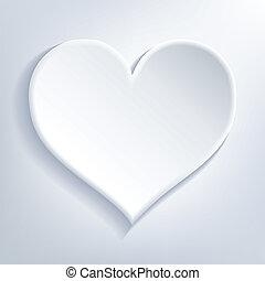 coeur, blanc
