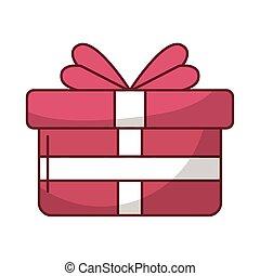 coeur, boîte, cadeau, amour, présent