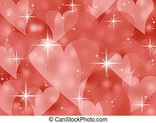 coeur, bokeh, rouges, valentin