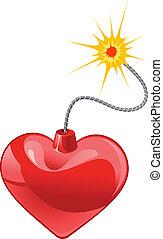 coeur, bombe