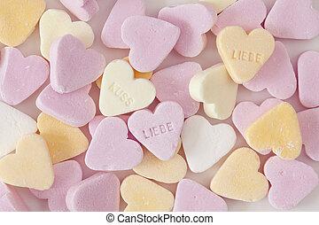 coeur, bonbons
