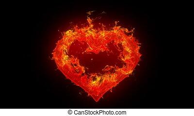 coeur, brûlé