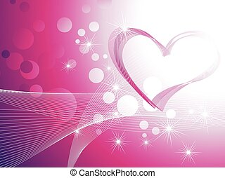 coeur, brillant, fond