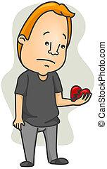 coeur brisé, homme