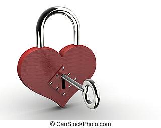 coeur, cadenas