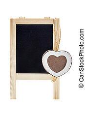 coeur, cadre, tableau
