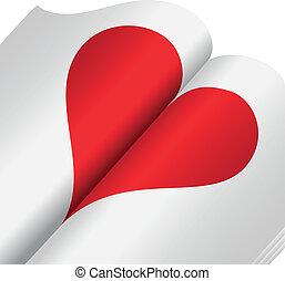 coeur, cahier