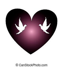 coeur, cancer, poitrine, campagne