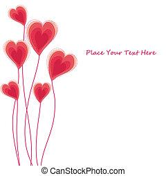 coeur, carte, caongratulatory