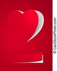 coeur, carte rouge