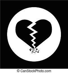coeur cassé, icône