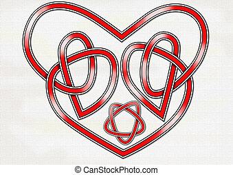 coeur, celtique, noeud