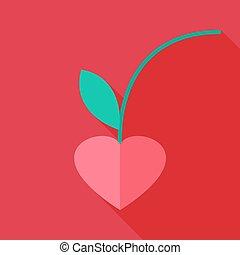 coeur, cerise, formé