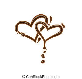 coeur, chocolat