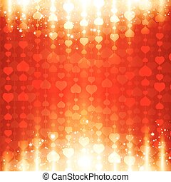 coeur, clair, st.valentine, fond, jour