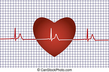 coeur, concept médical, problème