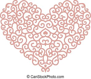 coeur, conception abstraite, forme, ton