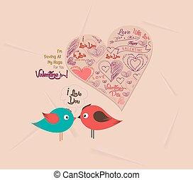 coeur, couple, jour, valentin